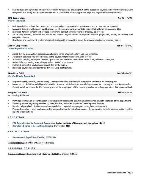 payroll tax resume sample payroll accountant resume samples livecareer - Payroll Accountant Resume