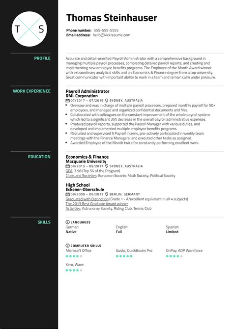 Payroll Administrator Resume Canada Post Your Resume Careersinfood