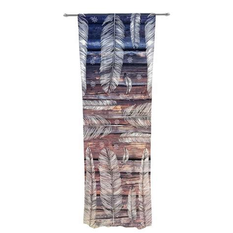 Peacock Feathers Animal Print Sheer Rod Pocket Curtain Panels (Set of 2 by