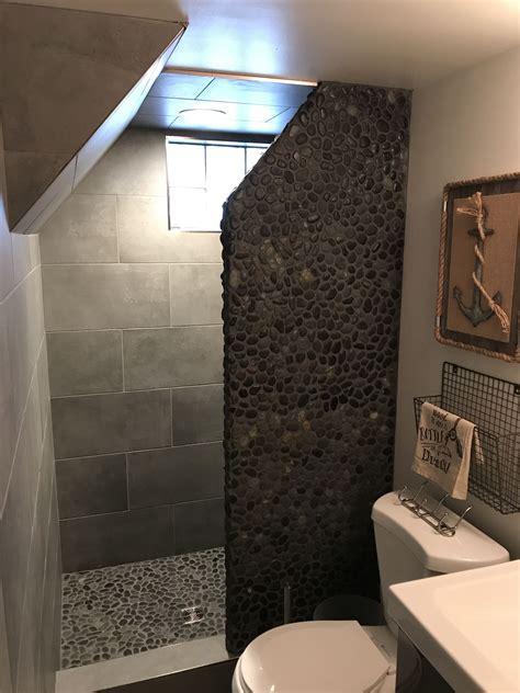 Pebble Tile In Shower