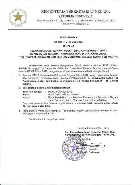 Pengumuman Hasil Cpns Kementerian Luar Negeri 2017  Pengumuman Nama Lulus Seleksi Administrasi Cpns