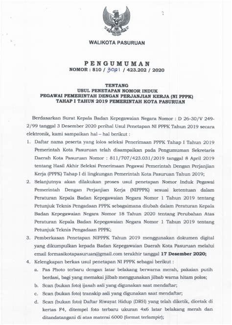 Pengumuman Hasil Cpns Badan Kepegawaian Negara Bkn 2017  Pengumuman Nomor 02peng1panpelbknix2017