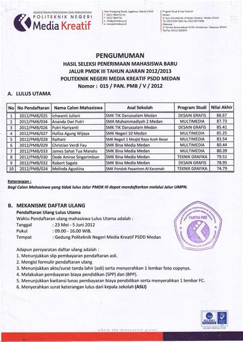 Pengumuman Hasil Cpns Kementerian Riset 2017 Teknologi 2017 Dan Pt 2017  Politeknik Negeri Medan