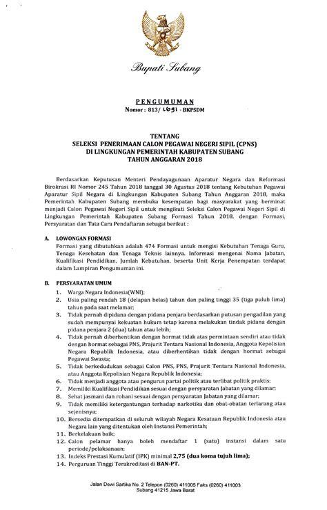 Pengumuman Hasil Cpns Lembaga Ilmu Pengetahuan Indonesia Lipi 2017  Syarat Pendaftaran Cpns Info Lowongan Cpns 2018 Terbaru