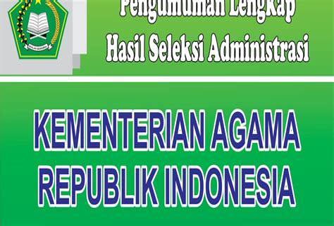 Pengumuman Hasil Cpns Kementerian Luar Negeri 2017  Website Kementerian Agama Ri