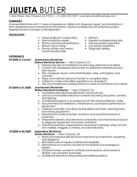 perfect electrician resume journeyman electrician resume sample monster - Journeyman Electrician Resume Examples
