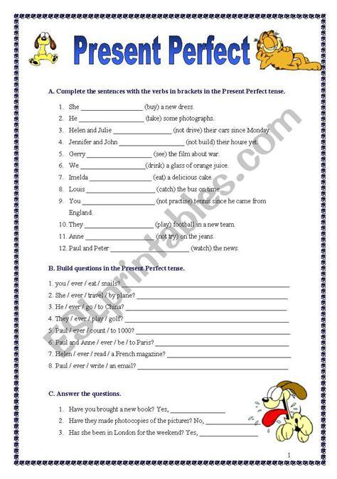 perfect english grammar present perfect exercises pdf