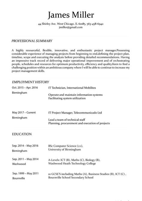 Perfect Resume Maker Easy Resume Maker
