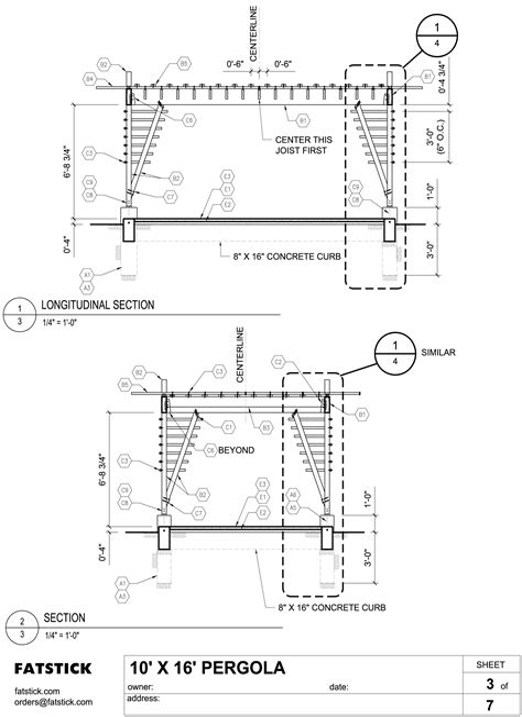 Pergola Parts List