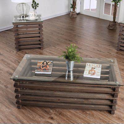 Perrodin Farmhouse 2 Piece Coffee Table Set