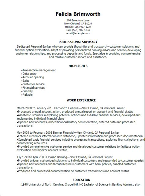 personal banker resume sample promotion letter hr personal banker resume sample teacher resume sample our collection of resume examples