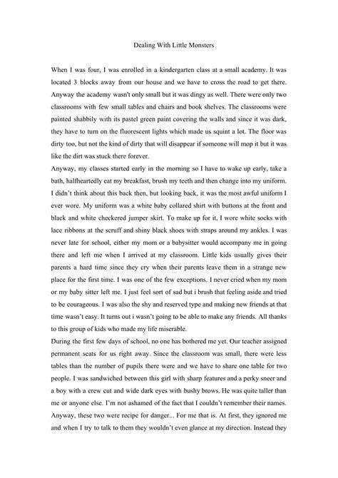 personal narrative essay examples high school write an essay online personal narrative essay examples high school personal narrative examples sample personal narration