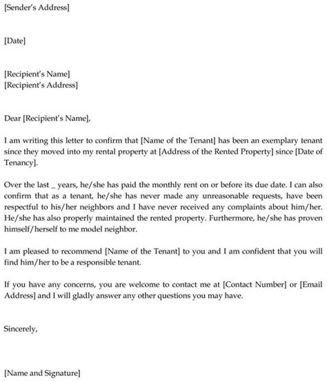 reference letter guarantor personal reference letter of recommendation with example