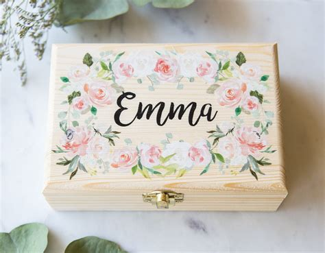 personalized flower girl jewelry box