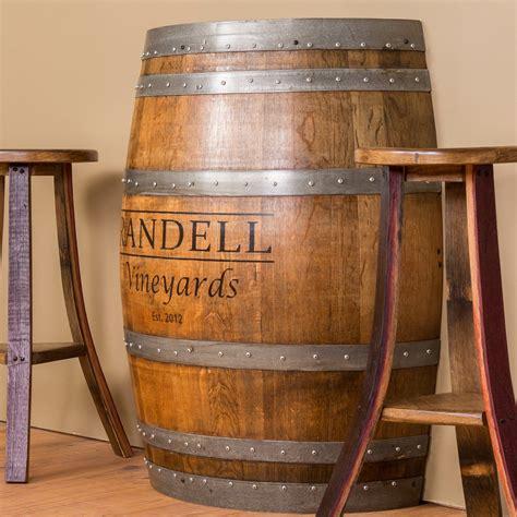 Personalized Half Barrel Console Table