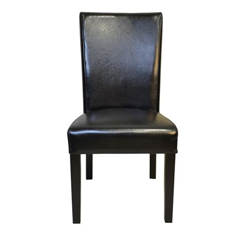 Petra Straightback Genuine Leather Upholstered Dining Chair (Set of 2)