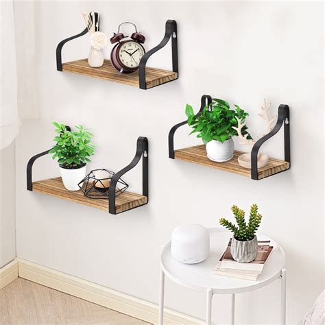 Pettine Wood Floating Wall Shelf (Set of 2)