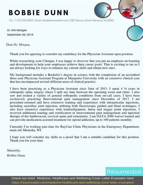 doctor application cover letter
