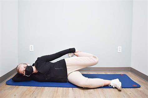 pic of side lying hip flexor stretch exercises for seniors