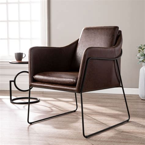 Picasso Side Chair with Faux Leather Seat (Set of 2)