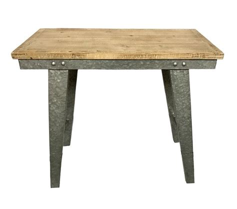 Pickard Wood and Galvanized Farmhouse Work Table