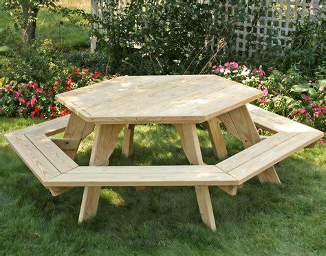 Picnic Table Hexagon