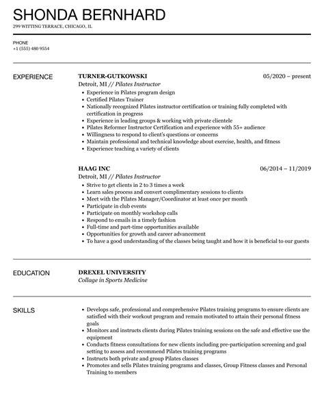 pilates instructor resume sample resume sample health coach corporate wellness program - Pilates Instructor Resume