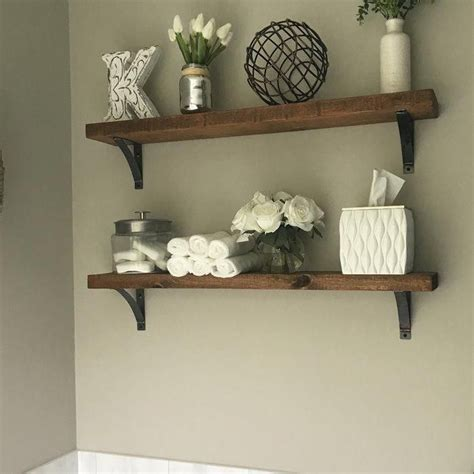 Pinecrest Industrial Grace Simple Bracket 2 Piece Accent Shelf Set
