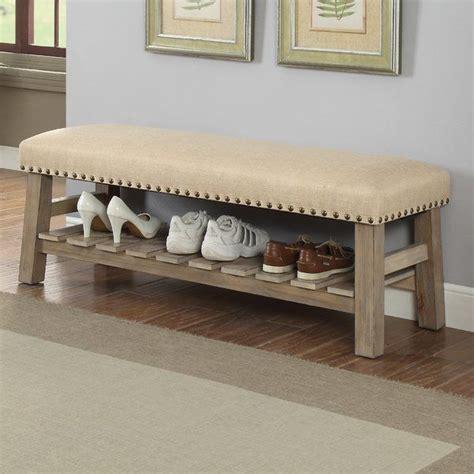 Piyush Wood Storage Bench