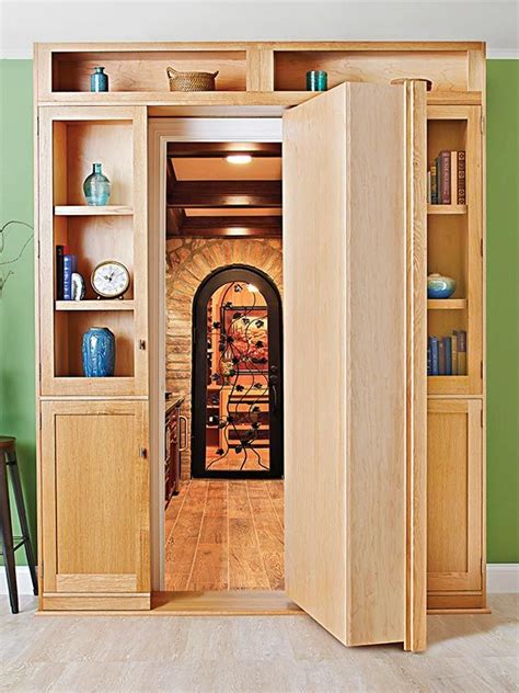 plans for bookcase with doors