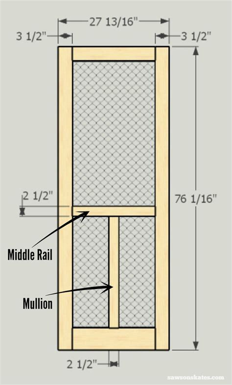 plans woodworking screen door