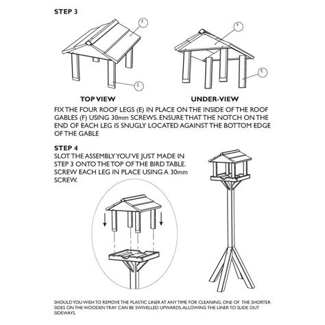Plans For A Bird Table