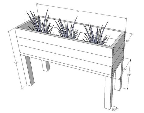 planter box dimensions