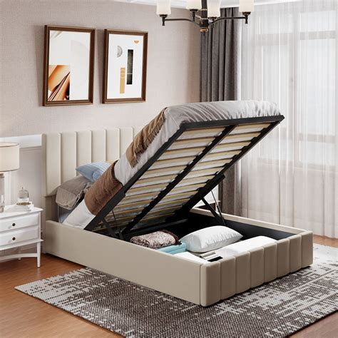 Platform Bed With Storage Full