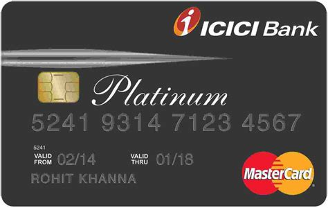 Platinum Credit Card Icici Limit Icici Credit Card Icici Bank