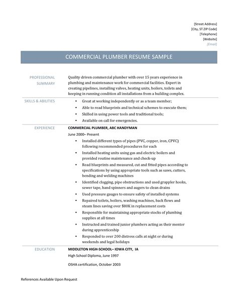 electrician journeyman resume expozzer more resume help - Journeyman Plumber Resume
