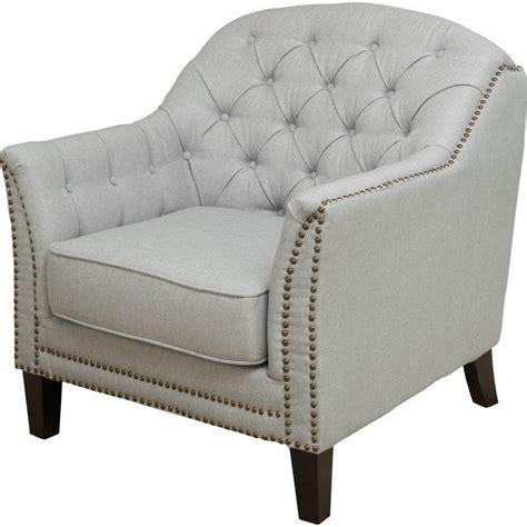 Plumwood Tufted Fabric Armchair