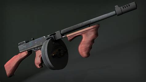 Tommy-Gun Pluralsight Creating A Game-Ready Tommy Gun In 3ds Max.