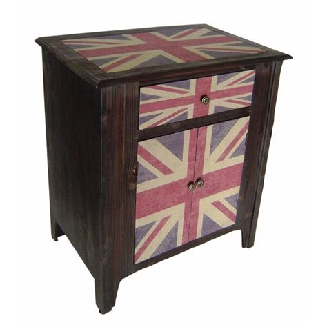 Poett Union Jack 2 Door Accent Cabinet