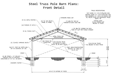 Pole Barn Engineered Plans