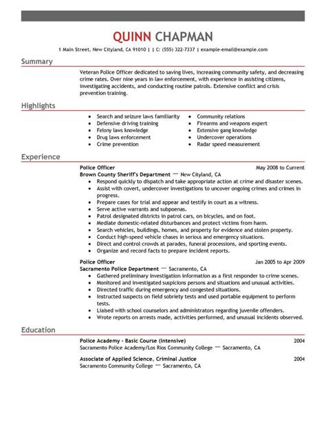 police sergeant resume objective probation officer resume and