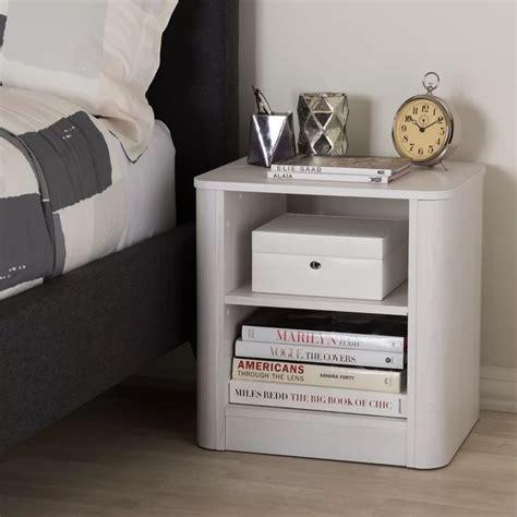 Polito Wood 2-Shelf Nightstand