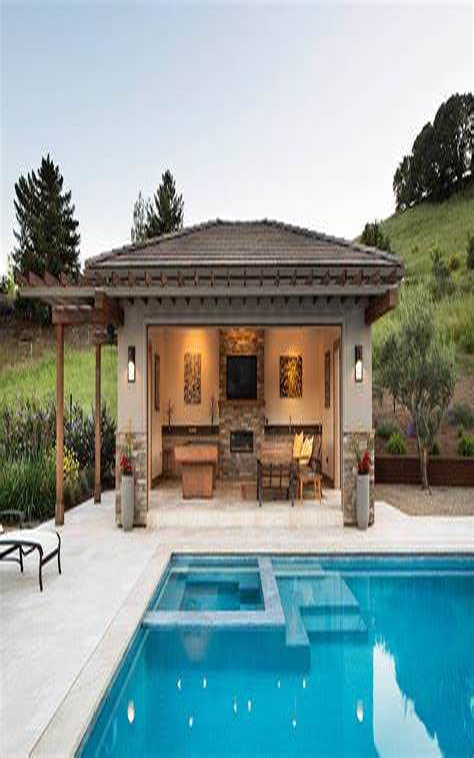 Pool House Garage Plans