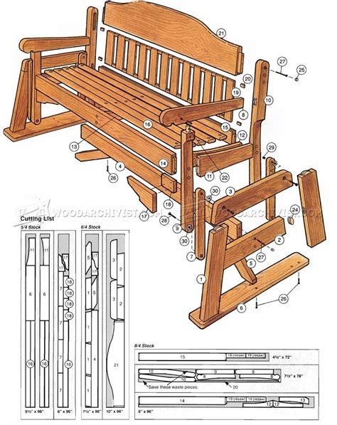 Porch Bench Glider Plans