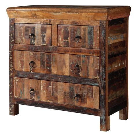 Porter Reclaimed Wood 4 Drawer Accent Chest