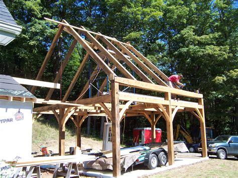 Post And Beam Garage Diy