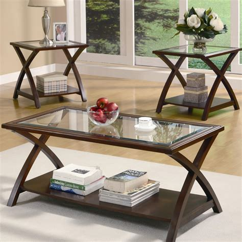 Potts 3 Piece Coffee Table Set