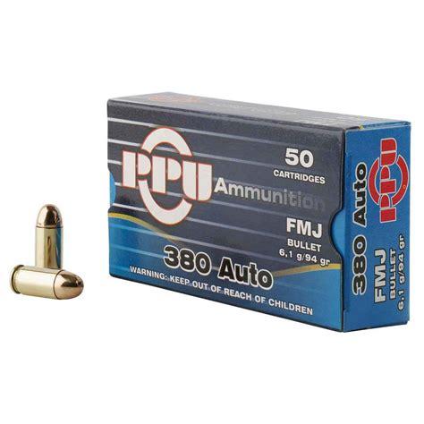 Ammunition Ppu Ammunition 380 Auto.