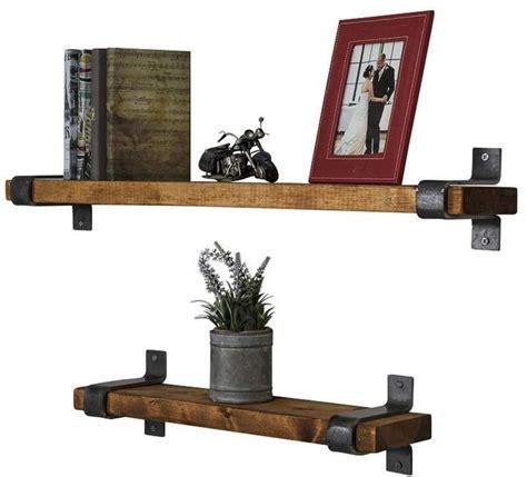 Preetesh Industrial Grace 2 Piece Floating Shelf Set