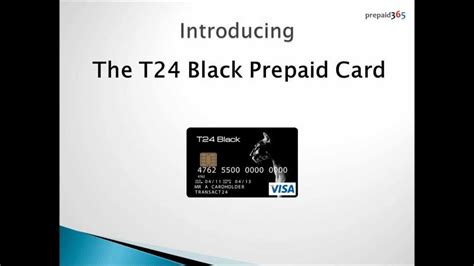 Prepaid Credit Card Without Id T24 Black Visar Prepaid Card
